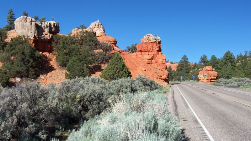 Entry to several canyon campsites