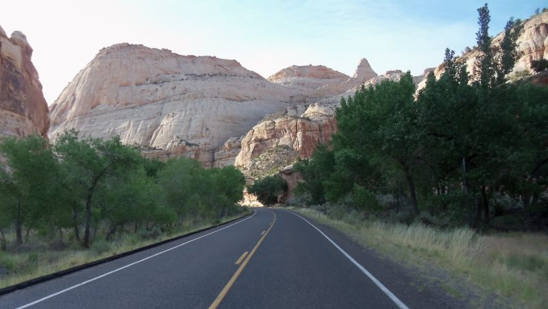 Early morning ride through Capitol Reef National Park
