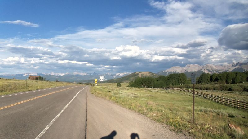 Rain is gone and we prepare for the decent into Ridgway