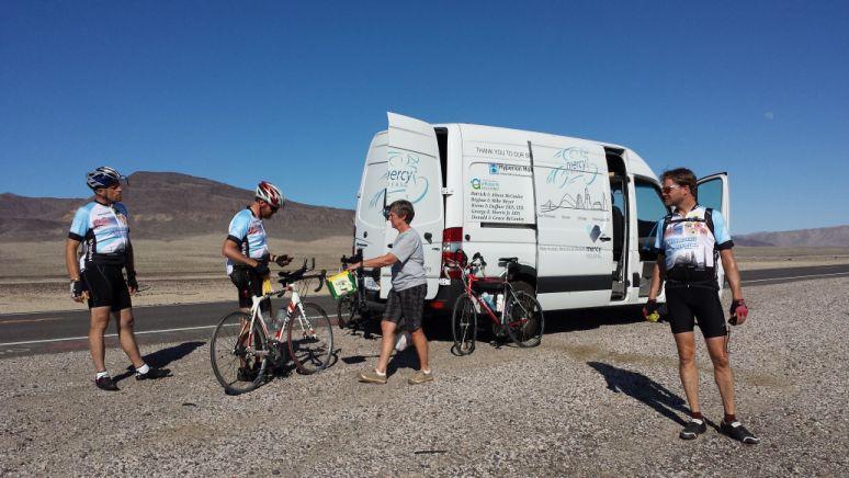 Van in the Nevada Desert