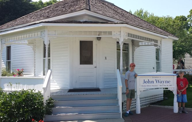 John Wayne's birthplace.
