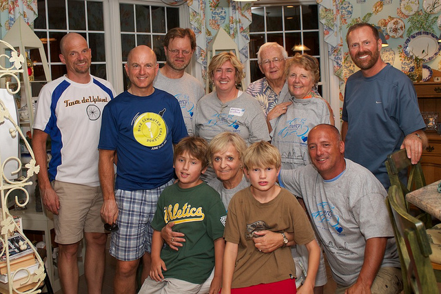 Pat with her family and friends.