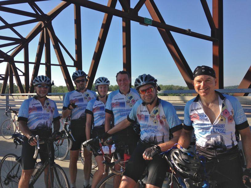 At the Nebraska/Iowa Border over the Missouri River